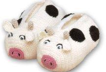 chaussons tricot et crochet