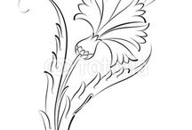 стилизация. цветы