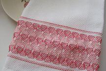Embroidery - huck weaving/Swedish weaving