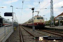 Deutsche Bahn AG - E-loks BR103 / Sie sehen hier eine Auswahl meiner Fotos, mehr davon finden Sie auf meiner Internetseite www.europa-fotografiert.de.