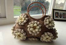 Borsa uncinetto crochet / Borsa realizzata tecnica crochet con mattonelle esagonali