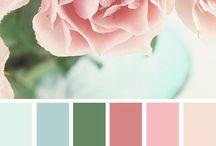ružová so zelenou