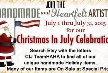 Christmas in July TEAMHAHA items / Available in our ETSY stores / by Becky McKinzie