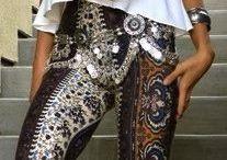 Pants for Karla to transform into evening pants/mini skirt