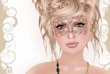 Masquerade hair and makeup