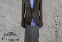 Trajes / Moda hombre. Chaqueta y pantalón. Composiciones de trajes