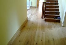 Stairs & Living Room In Amtico / Client: Private Residence In South London. Brief: To supply and install an Amtico floor.