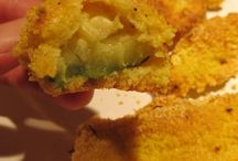 POLENTA BATTERED ZUCCHINI  gluten free /  I love fried zucchini, but I don't love all of the extra oil, try these baked Polenta Battered Zucchini Kitchen Wisdom Gluten Free Recipe  http://kitchenwisdomglutenfree.com/2014/04/17/polenta-battered-zucchini-gluten-free-forget-what-you-know-about-wheatc-2014/