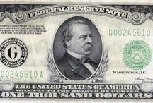 Federal Reserve Notes / Colonial Currency of the 1700's, Confederate and Fractional Currency of the 1860's, United States Notes, Silver Certificates, Gold Certificates, National Currency and Federal Reserve Notes are among the currency LCGON inventories. Historically relevant, each series in part tells the story of U.S. history and economy. Artistically rendered, and symbolically rich, they are esthetically pleasing to collect.