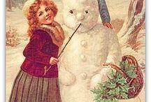 Natale Vintage- Pupazzo di Neve