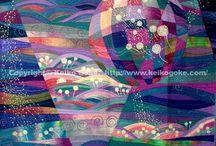 Beweging in kleur / Quilt