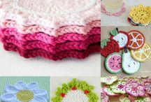 podkładki / crochet coasters, szydełkowe podkładki na różne okazje