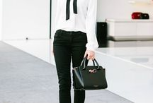 Black & white office outfits