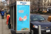 Phone Booth Kiosk Advertising / Phone booths...no longer used but always seen.