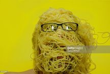 RetroACTIVE poster / photos of people and pasta for the Spaghettishow