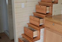 Clever Storage Ideas ( Great for Tiny House Storage ) / When you live in a tiny house you still need storage. Storage ideas for tiny houses and not-so-tiny houses. I love how clever people are!