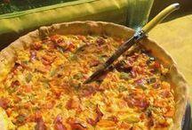 tarte aux poivrons grillés et chorizo