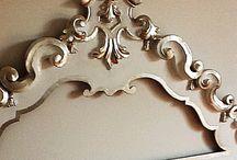 Restauro arredi / Foglia argento tempera