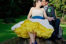 Colorful wedding gowns / Inspiration for the bride who is looking for a wedding gown with a pop of color!!!