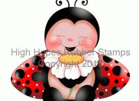 High Hopes Stamps Ladybugs / High Hopes Rubber Stamps Ladybugs