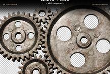 Steam Punk cogs, wheels & gears