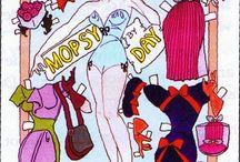 Paper Dolls 8 / Påklædningsdukker 8