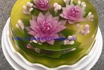 žalatinové dorty 3D
