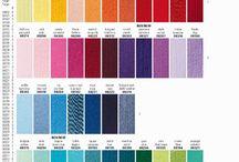 Színek - colors / Minden a színekről (fonalak színei, színkeverés stb)