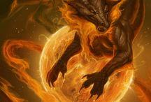 2013 Zodiac Dragons / 2013 Zodiac Dragons Calendar Artwork.