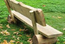 sillas en madera rusticos
