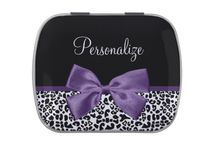 Leopard Print Gifts 2013 Fall Fashion / Personalize these trendy black and white leopard print gifts, with stylish ribbons tied into a cute girly bows. These modern style accessories are part of the Animal Print Fall Fashion Collection.