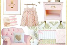 Gold & Pink Nursery Ideas
