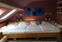 Familienbett / Co-Sleeping, Familienbett, Platz für 5, Bambus