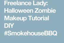 batman zombie makeup