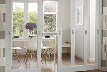 Glass dividing doors