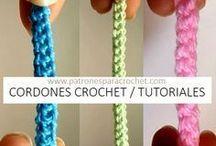 cordones a crochet