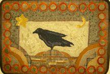 Rug hooking-animals,birds,bugs