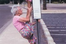 Old ladies doing Splits