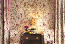 Country Elegance / A classic decorating story using one of our best selling archival prints recoloured in cranberry for a British country house look. / by Laura Ashley USA