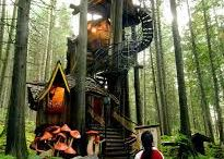 Tree houses I Wish I'd Built as a Kid / A tree house plays a major role in my book, 'Missing in Paradise'. These are spectacular ones, quite different than the rustic one in the book and very unlike the ramshackle ones I built as a boy.