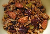 Granola / Granola is often eaten in combination with yogurt, honey, strawberries, bananas, milk, and/or other forms of cereal. It can also serve as a topping for various types of pastries and/or desserts. Granola, particularly recipes that include flax seeds, is often used to improve digestion. For the ingredients and steps visit http://bestlifeblueprint.bizblueprint.com/healthy-recipies/granola