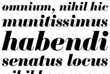 Typography / Images of fonts, typefaces, letters, layouts, and type specimens. / by James Puckett