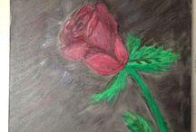 Acrylic Paint / Rose / by Abby Hernandezenriqueyabby