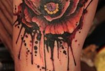 splatter tattoo