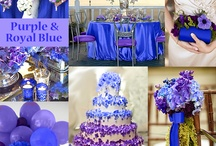 Purple and Royal Blue