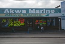 In store at Akwa Pro Tackle / Come in and see our store. We're proud to show you around.
