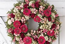 Front Door Wreaths / Who wants a wreath idea? The front door speaks volumes about your home, so why not decorate it with style. - #homedecor #decoration #wreath / by Becky at Crafty Garden Mama