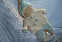 Bebés vestidos galletas de bebe