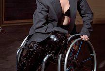 Wheelchair woman in heels