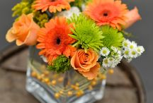 Virágcsokrok, asztali díszek